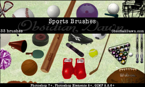 Brushes para photoshop de deportes
