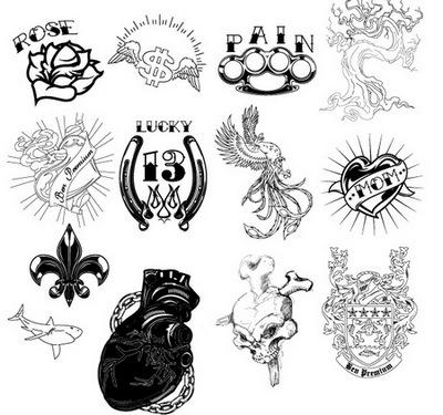 plantilla para tatuajes. Excelentes diseños de Tatuajes en Vectorial