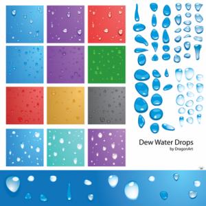 Vectores en Forma de Gotas de Agua