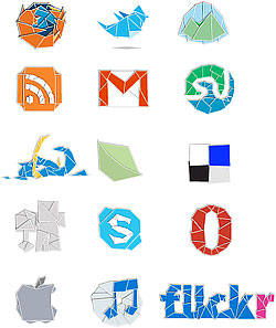 Descargar Iconos Estilo origami
