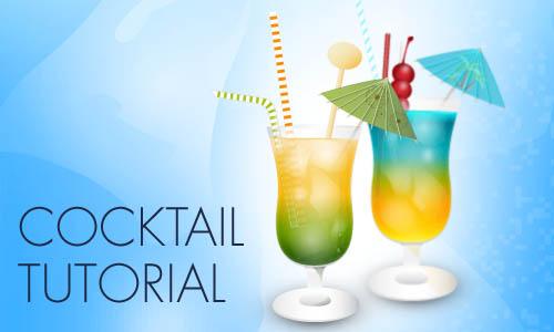 Tutorial para crear un coctel en vectores con Adobe Illustrator