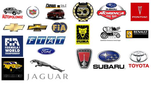 Logotipos en vectores de empresas de automóviles foto